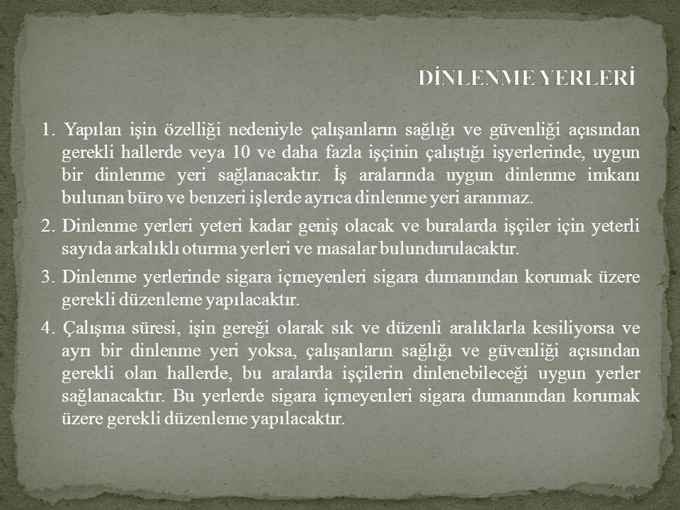 DİNLENME YERLERİ