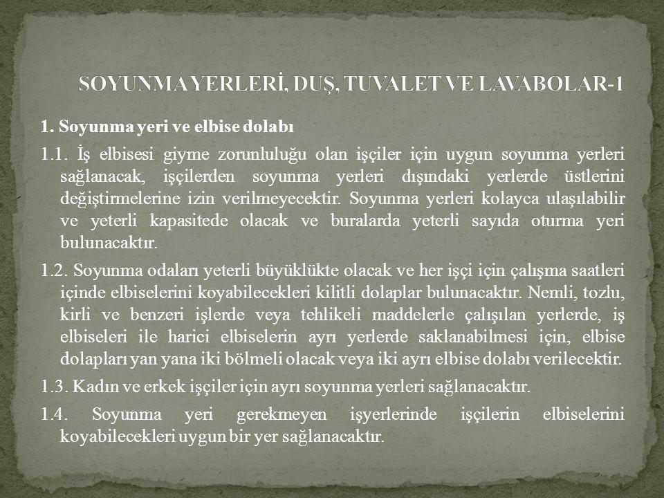 SOYUNMA YERLERİ, DUŞ, TUVALET VE LAVABOLAR-1