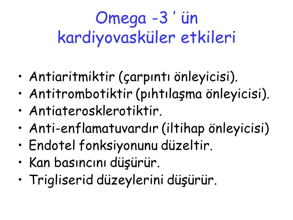 Omega -3 ' ün kardiyovasküler etkileri