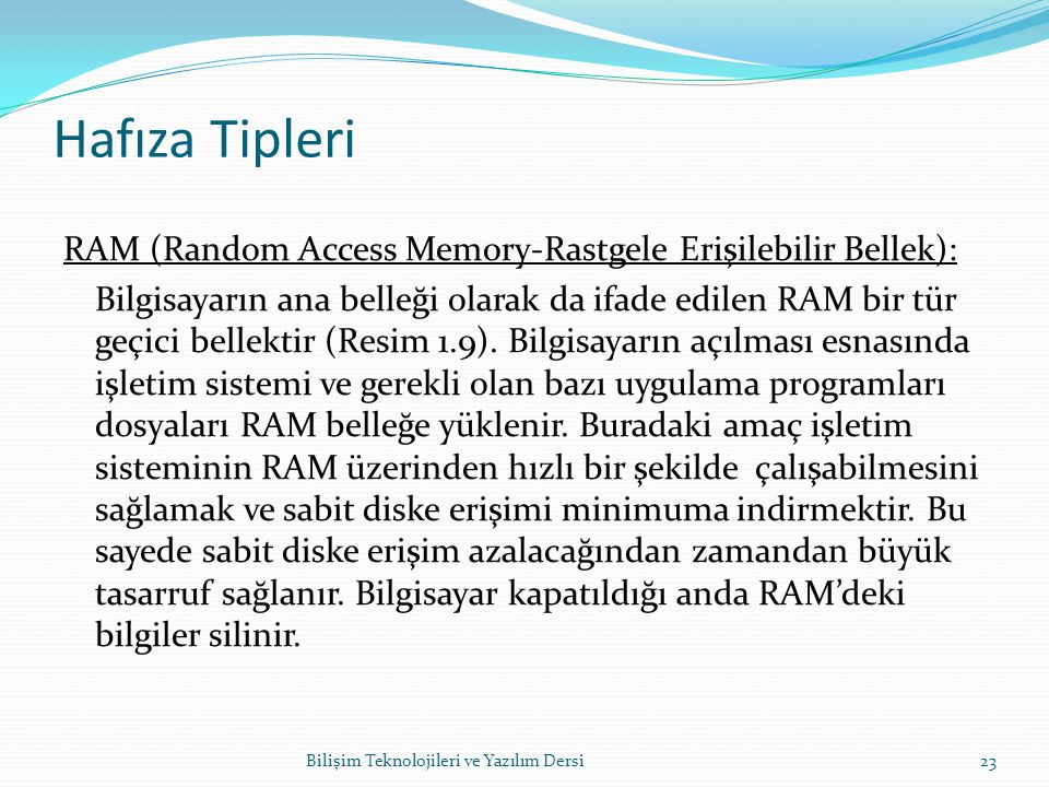 Hafıza Tipleri