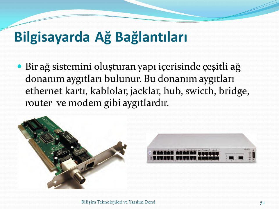 Bilgisayarda Ağ Bağlantıları