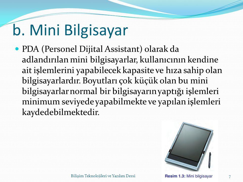 b. Mini Bilgisayar