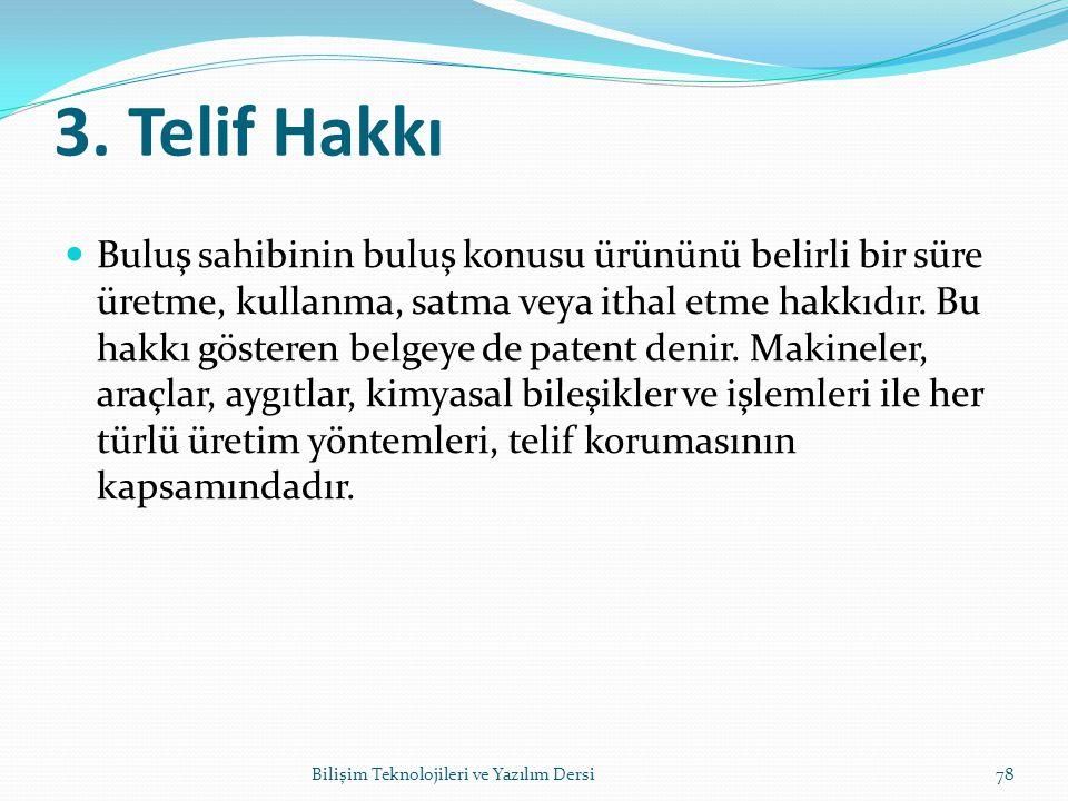 3. Telif Hakkı