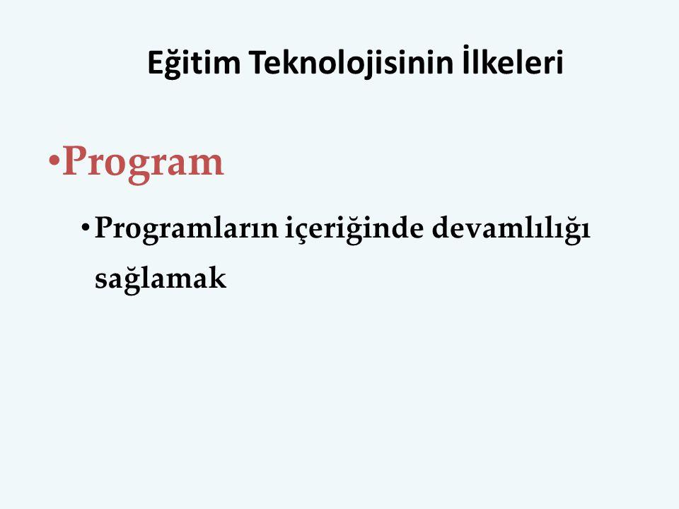Eğitim Teknolojisinin İlkeleri
