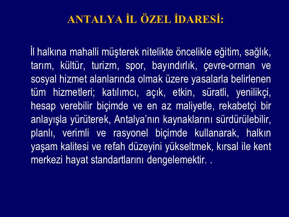 ANTALYA İL ÖZEL İDARESİ: