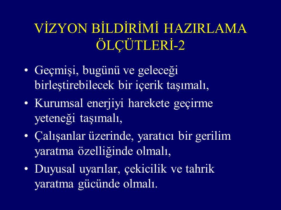 VİZYON BİLDİRİMİ HAZIRLAMA ÖLÇÜTLERİ-2