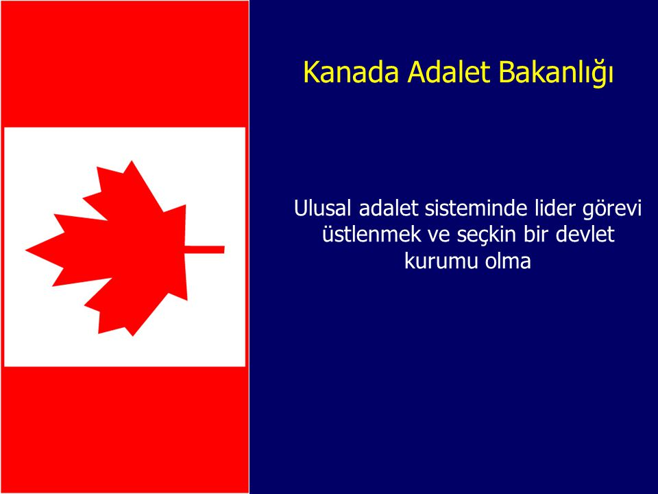 Kanada Adalet Bakanlığı