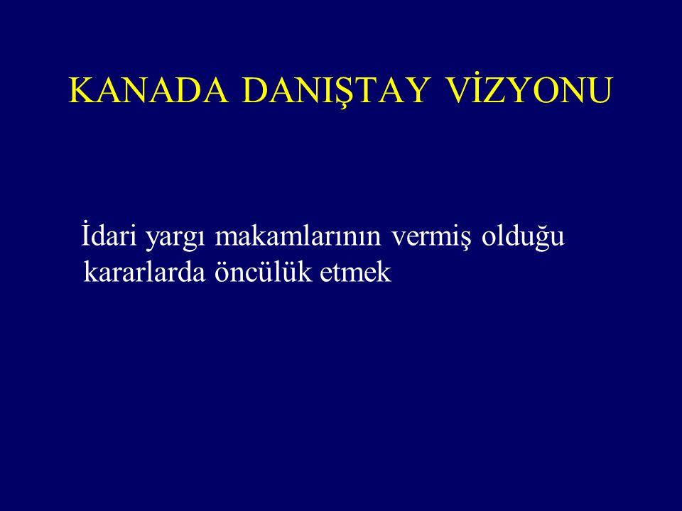 KANADA DANIŞTAY VİZYONU