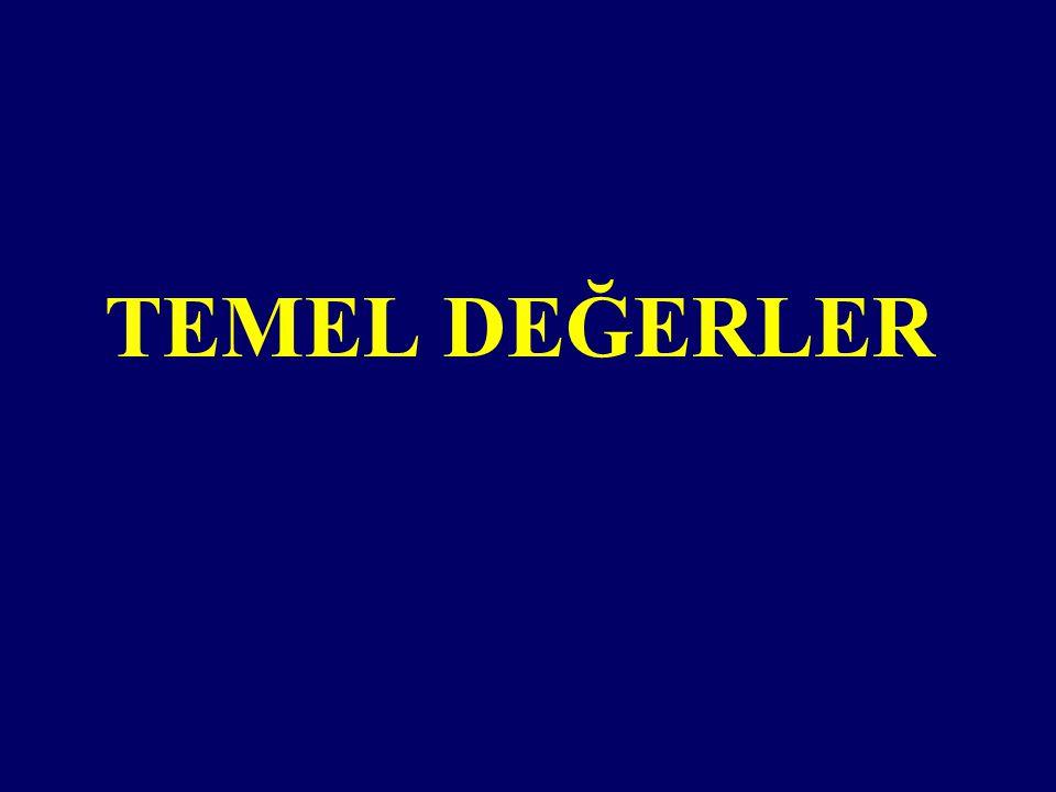 TEMEL DEĞERLER