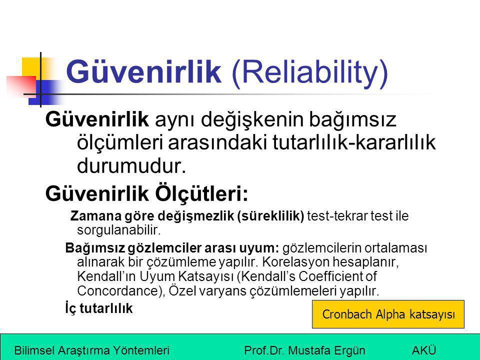Güvenirlik (Reliability)