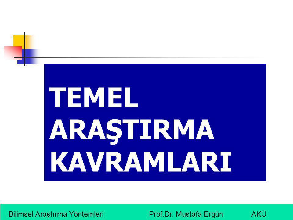 TEMEL ARAŞTIRMA KAVRAMLARI