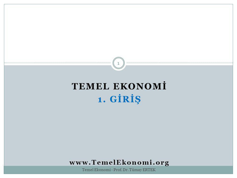 TEMEL EKONOMİ 1. GİRİŞ www.TemelEkonomi.org