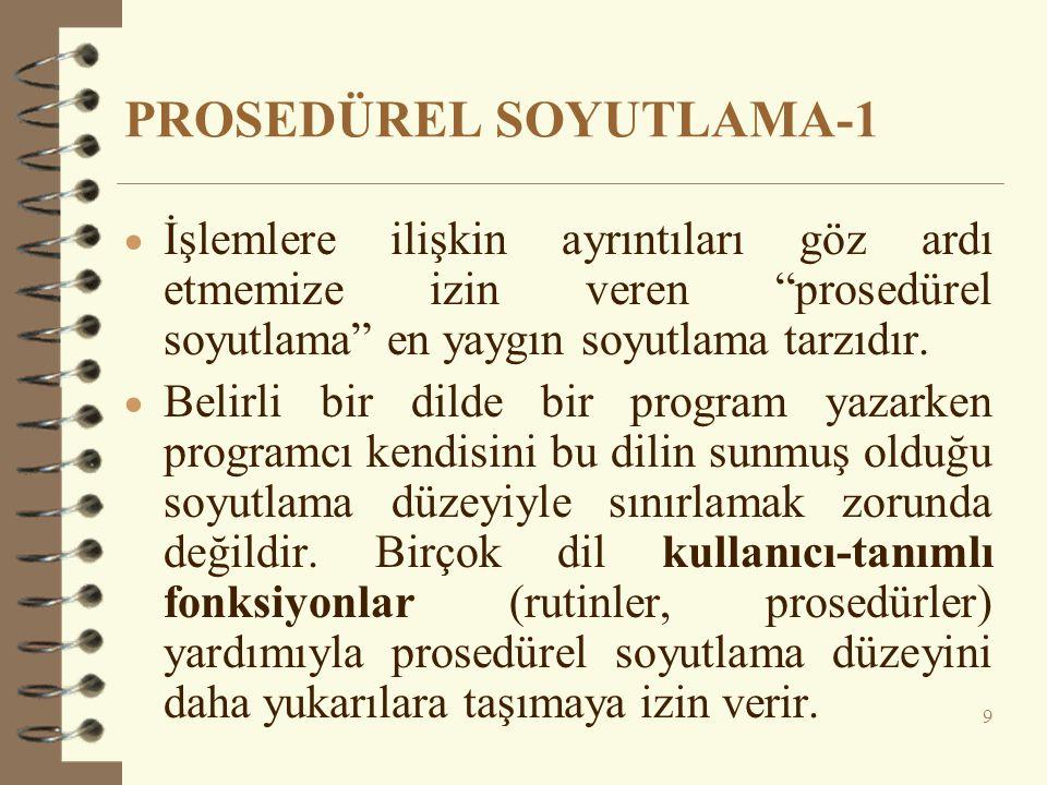 PROSEDÜREL SOYUTLAMA-1