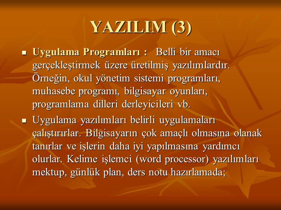 YAZILIM (3)