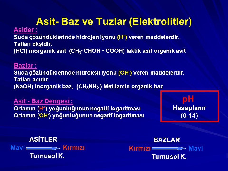 Asit- Baz ve Tuzlar (Elektrolitler)