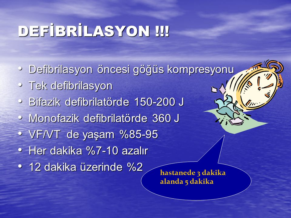 DEFİBRİLASYON !!! Defibrilasyon öncesi göğüs kompresyonu