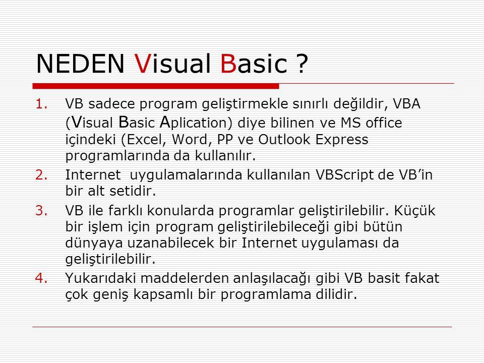 NEDEN Visual Basic