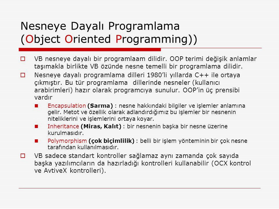 Nesneye Dayalı Programlama (Object Oriented Programming))