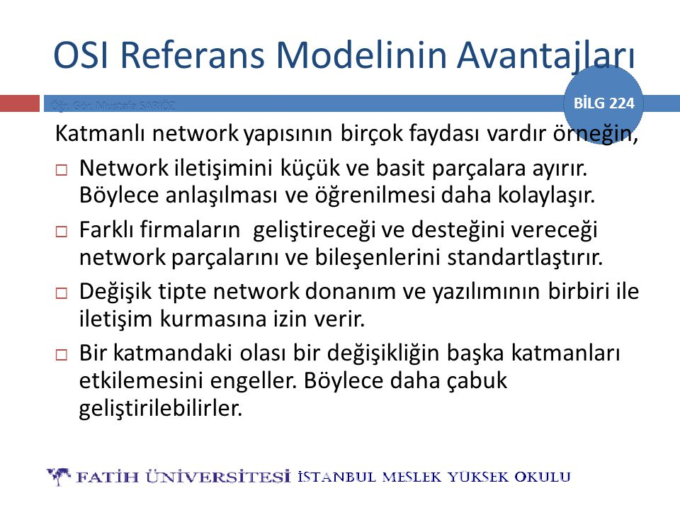 OSI Referans Modelinin Avantajları