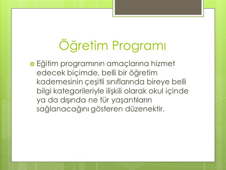 Öğretim Programı