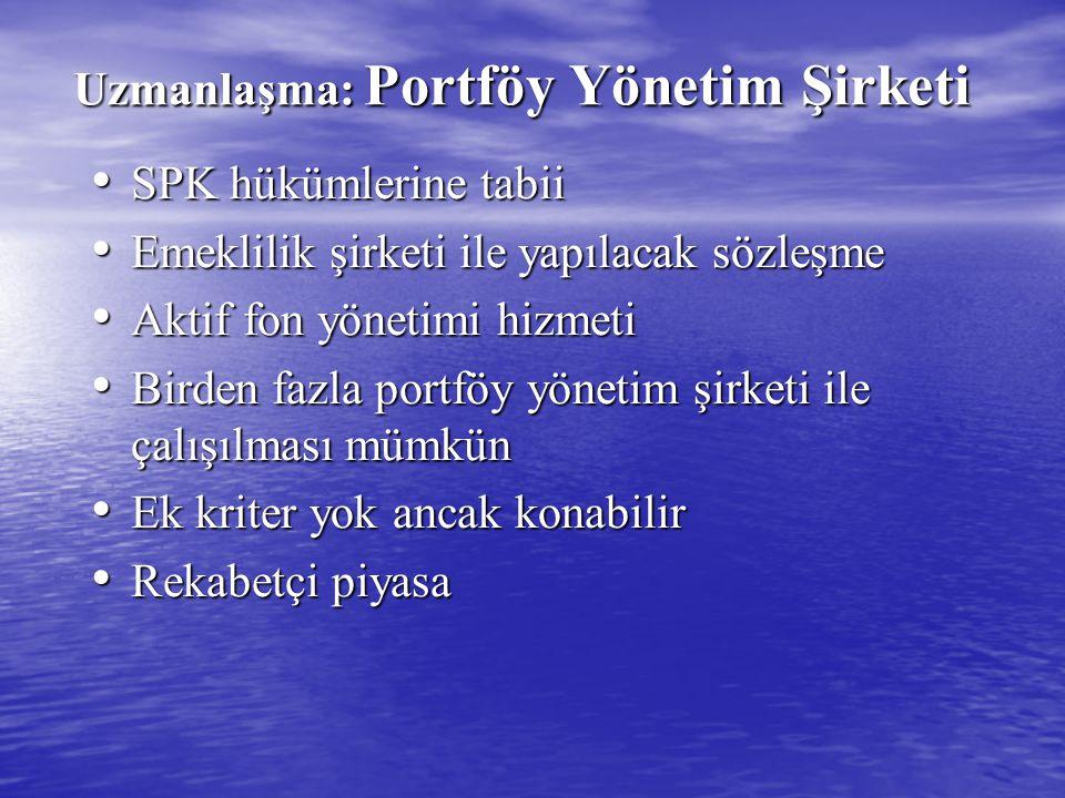 Uzmanlaşma: Portföy Yönetim Şirketi