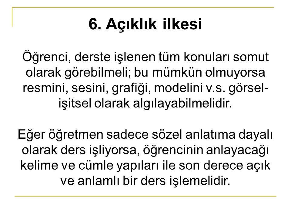 6. Açıklık ilkesi