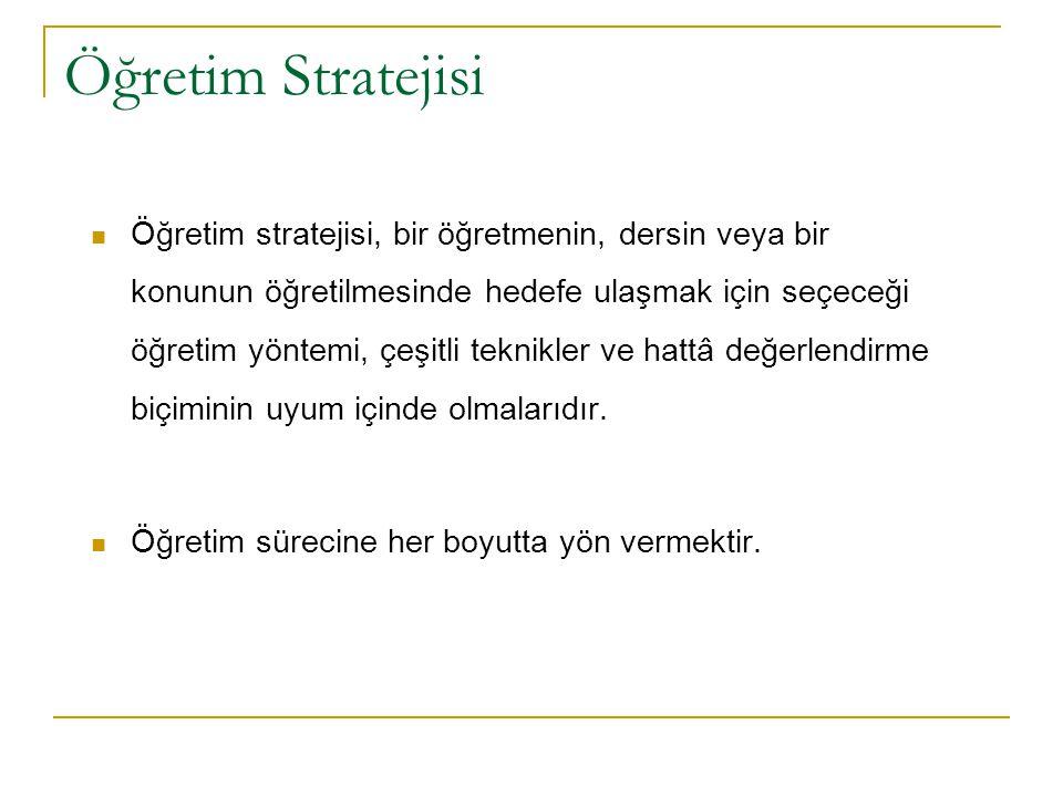 Öğretim Stratejisi