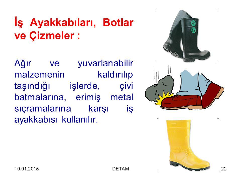 İş Ayakkabıları, Botlar ve Çizmeler :