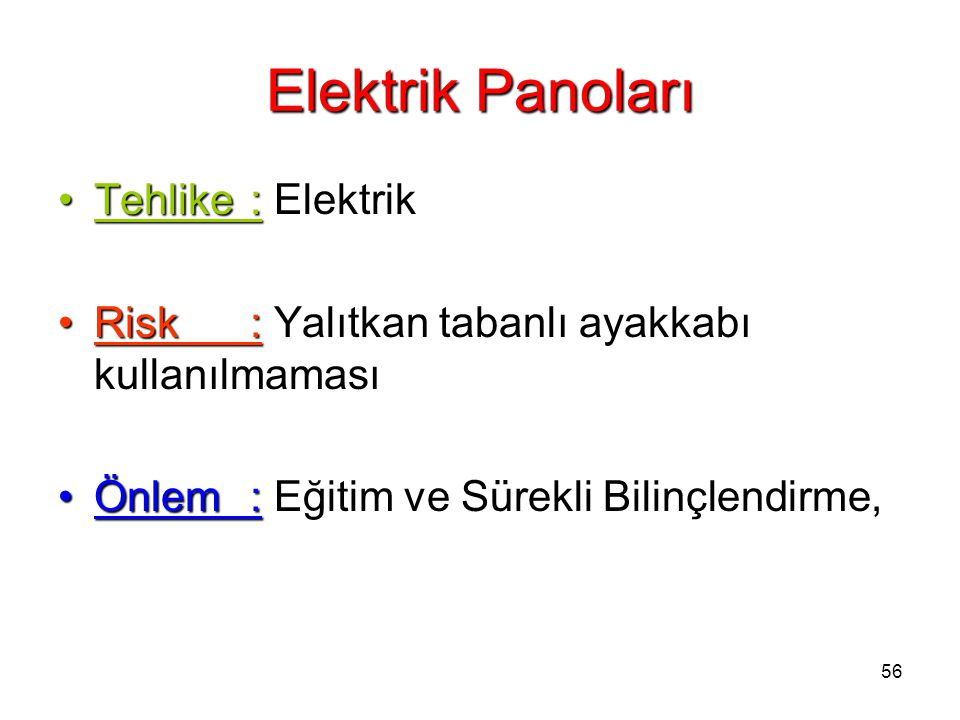 Elektrik Panoları Tehlike : Elektrik