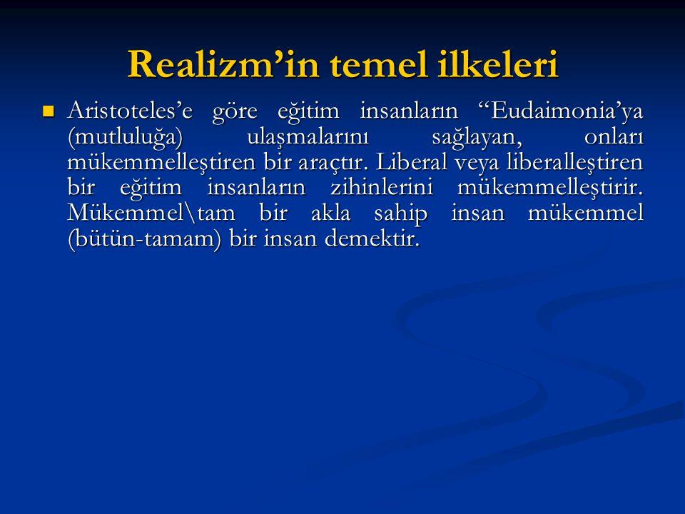 Realizm'in temel ilkeleri