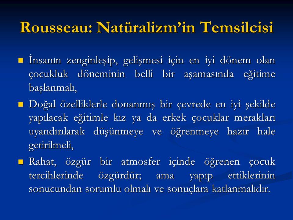 Rousseau: Natüralizm'in Temsilcisi