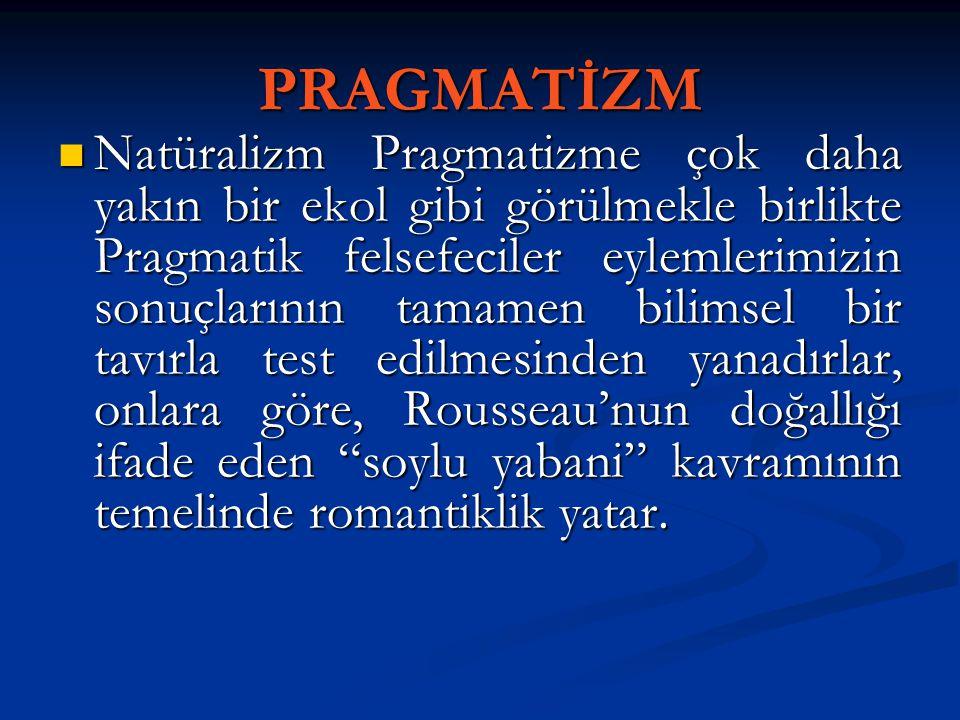 PRAGMATİZM