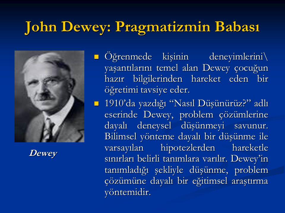 John Dewey: Pragmatizmin Babası