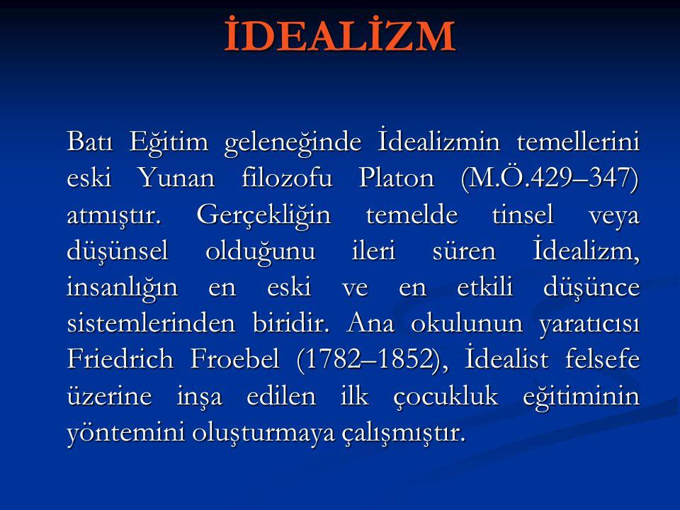 İDEALİZM