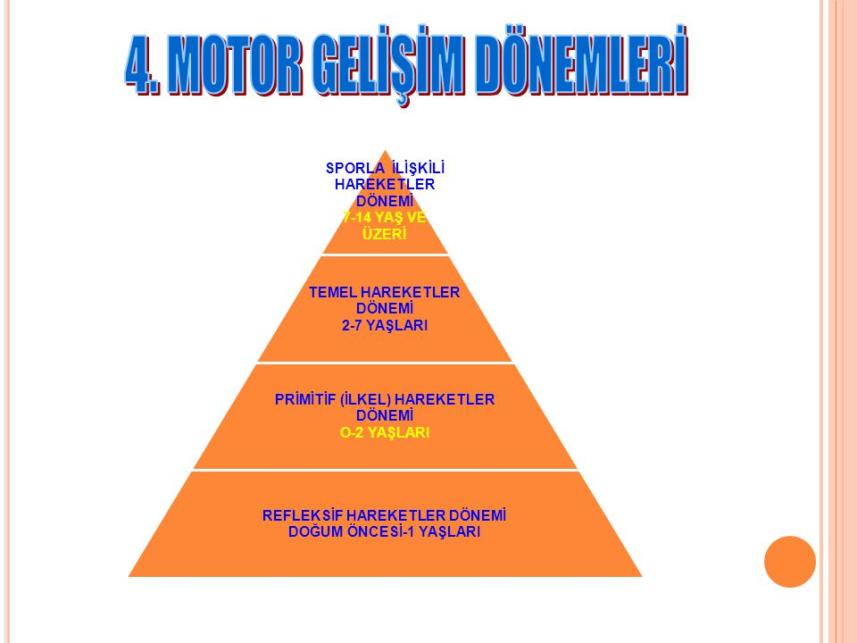 4. MOTOR GELİŞİM DÖNEMLERİ