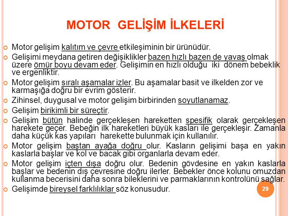 MOTOR GELİŞİM İLKELERİ