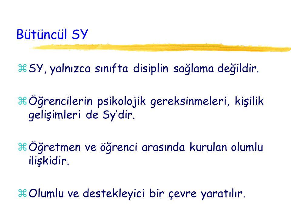 Bütüncül SY SY, yalnızca sınıfta disiplin sağlama değildir.