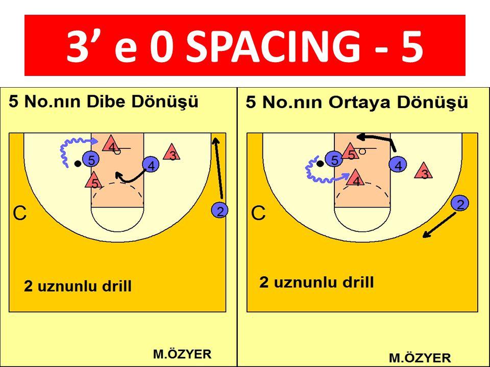 3' e 0 SPACING - 5