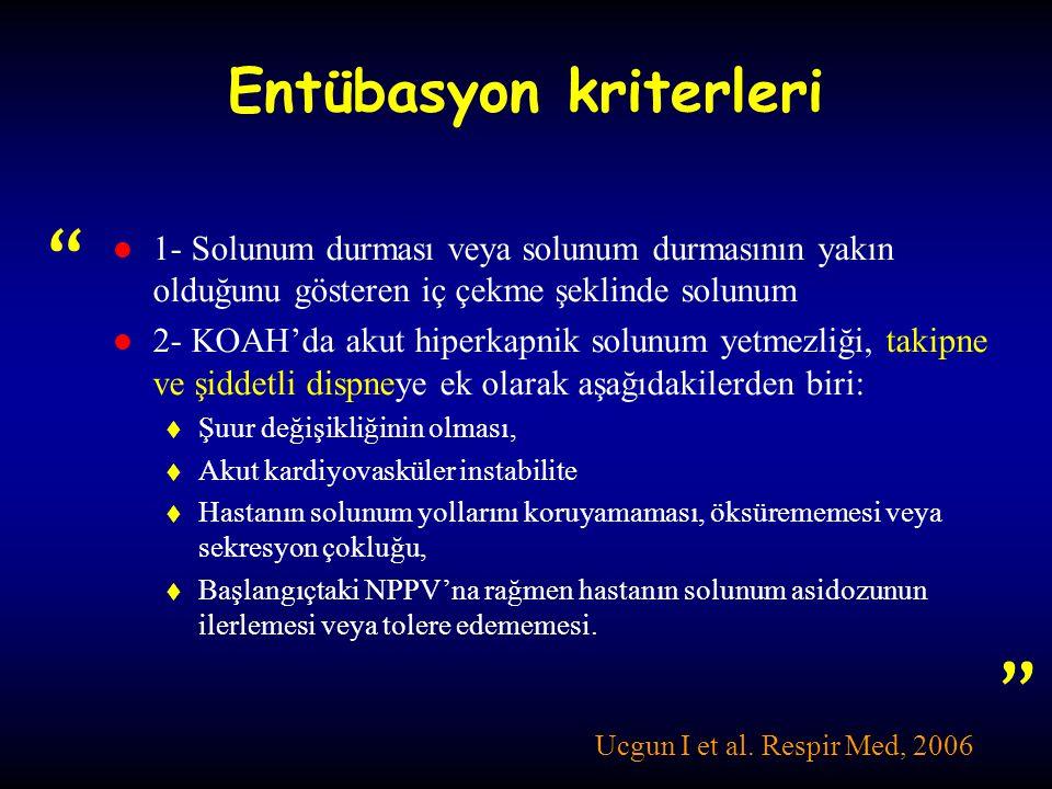 Entübasyon kriterleri