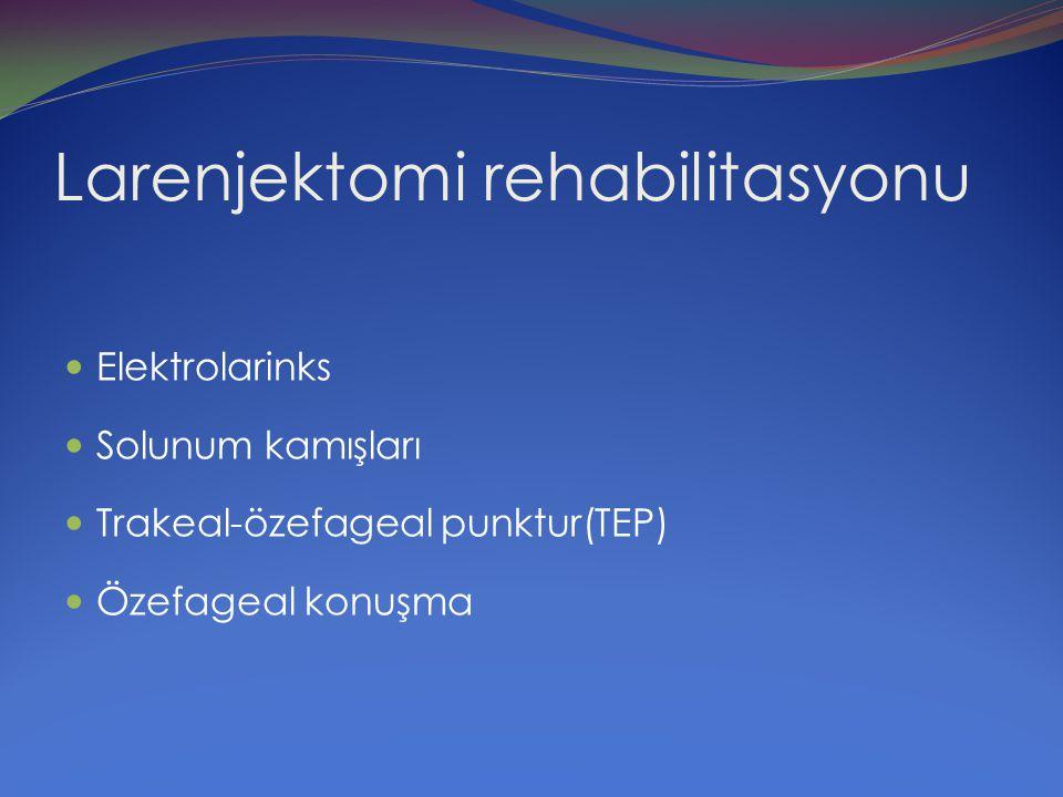 Larenjektomi rehabilitasyonu