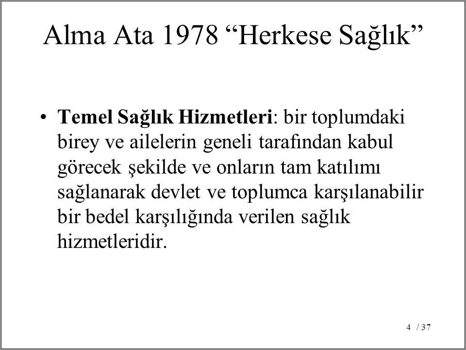 Alma Ata 1978 Herkese Sağlık
