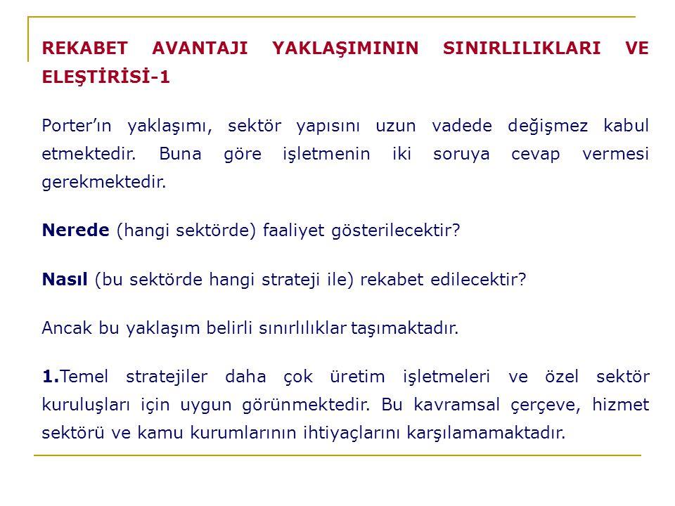 REKABET AVANTAJI YAKLAŞIMININ SINIRLILIKLARI VE ELEŞTİRİSİ-1