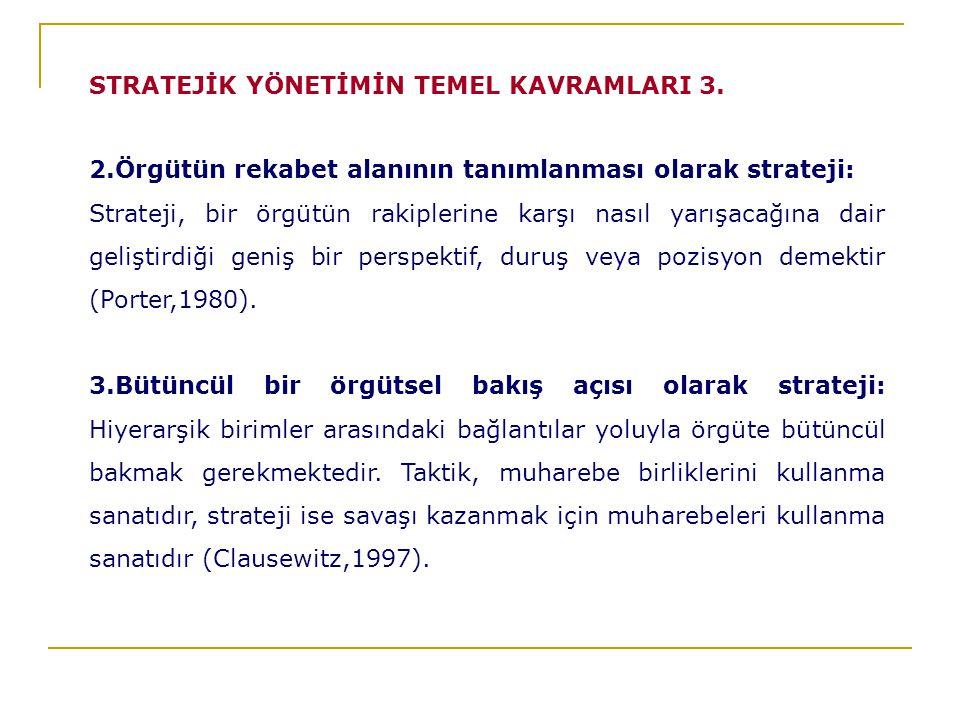 STRATEJİK YÖNETİMİN TEMEL KAVRAMLARI 3.