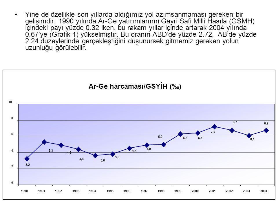 Ar-Ge harcaması/GSYİH (‰)