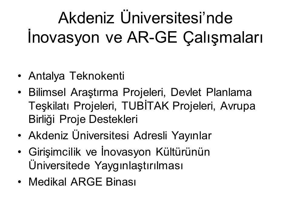 Akdeniz Üniversitesi'nde İnovasyon ve AR-GE Çalışmaları
