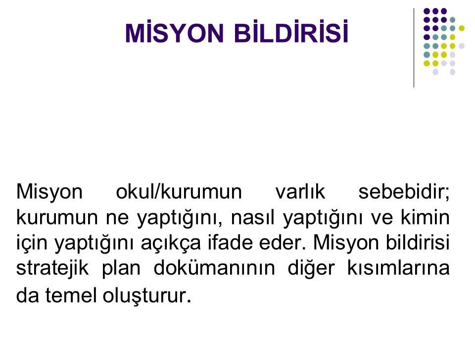 MİSYON BİLDİRİSİ