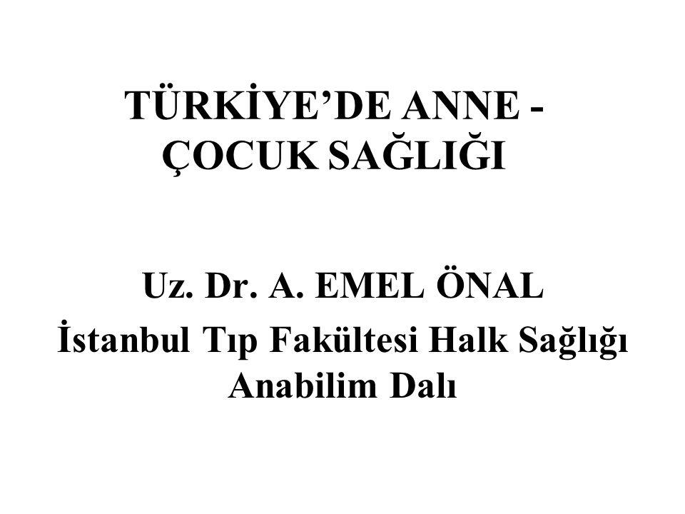 TÜRKİYE'DE ANNE - ÇOCUK SAĞLIĞI