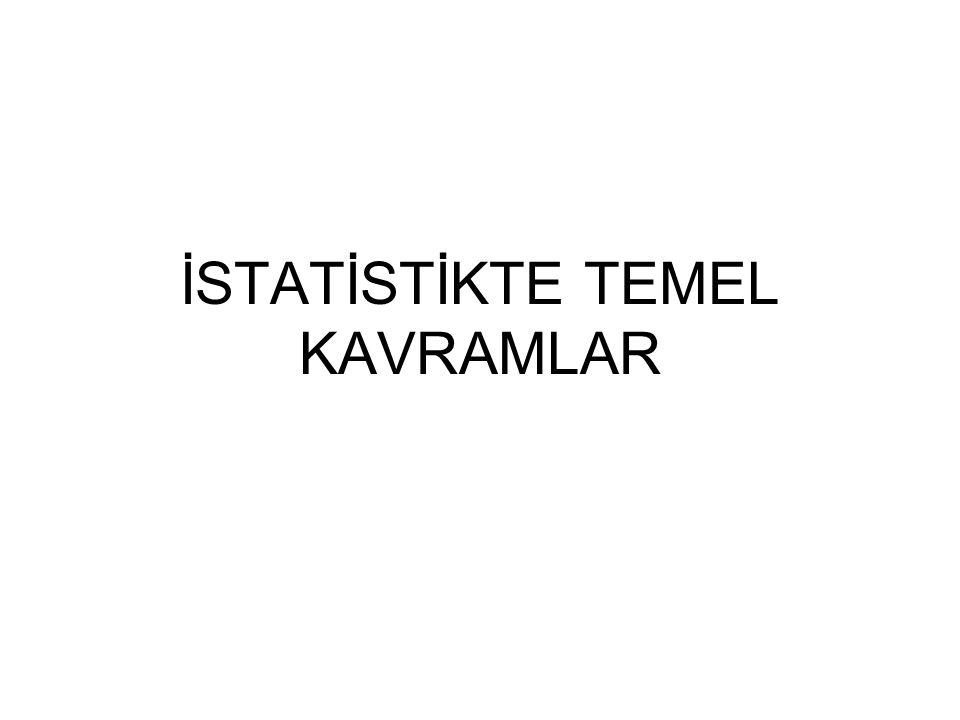 İSTATİSTİKTE TEMEL KAVRAMLAR