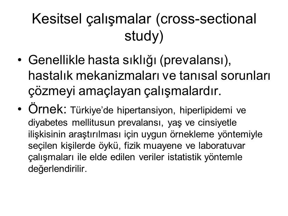 Kesitsel çalışmalar (cross-sectional study)