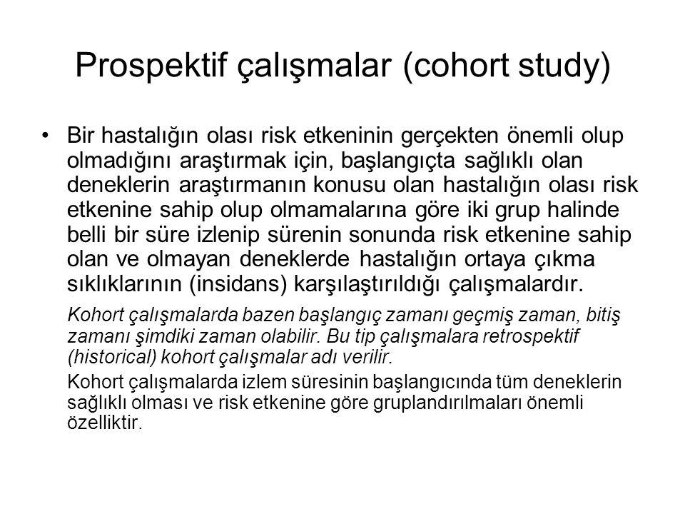 Prospektif çalışmalar (cohort study)